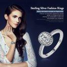100% 925 Sterling Silver Vintage Elegance & Clear CZ Engagement Ring