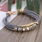 New Fashion Jewelry Leather Bracelet for Women Bangle Europe Beads