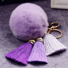 Fashion Key chain Natural Rex Rabbit Fur Fluffy Key Chains