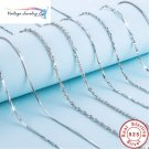 Authentic Basic Chain Necklace 100% 925 Sterling Silver Lobster Clasp