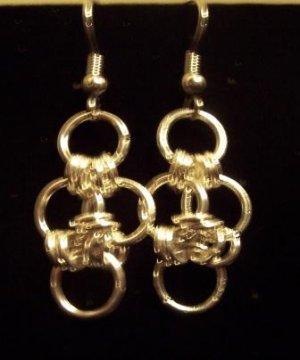 Cute Little Chain Maille Earrings