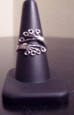 Adjustable Sterling Silver Ladies Ring