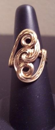 Gold filled hand crafted ring.