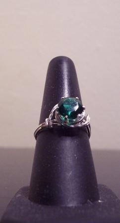 Sterling Silver 8mm Birthstone Ring