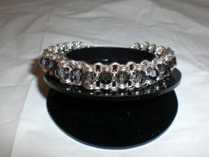 Black Diamond Swarovski Crystal Channel Bracelet