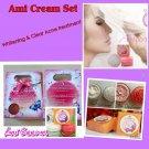 6x Ami Cream Effective Pimples Acne Black Spot Treament & Smooth Whitening Set