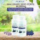 Nubolic Max Grape Seed 60000mg. Help the skin Whitening effectively 120 Tablet