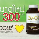 Ze-oil Natural Extraction 4 Oil Cold-Pressed Coconut Garlic Rice Bran 300 Caps N