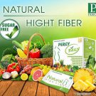Percy Daily Detox Natural High Fiber 100% Reduce Belly Slim 10 Sachets New