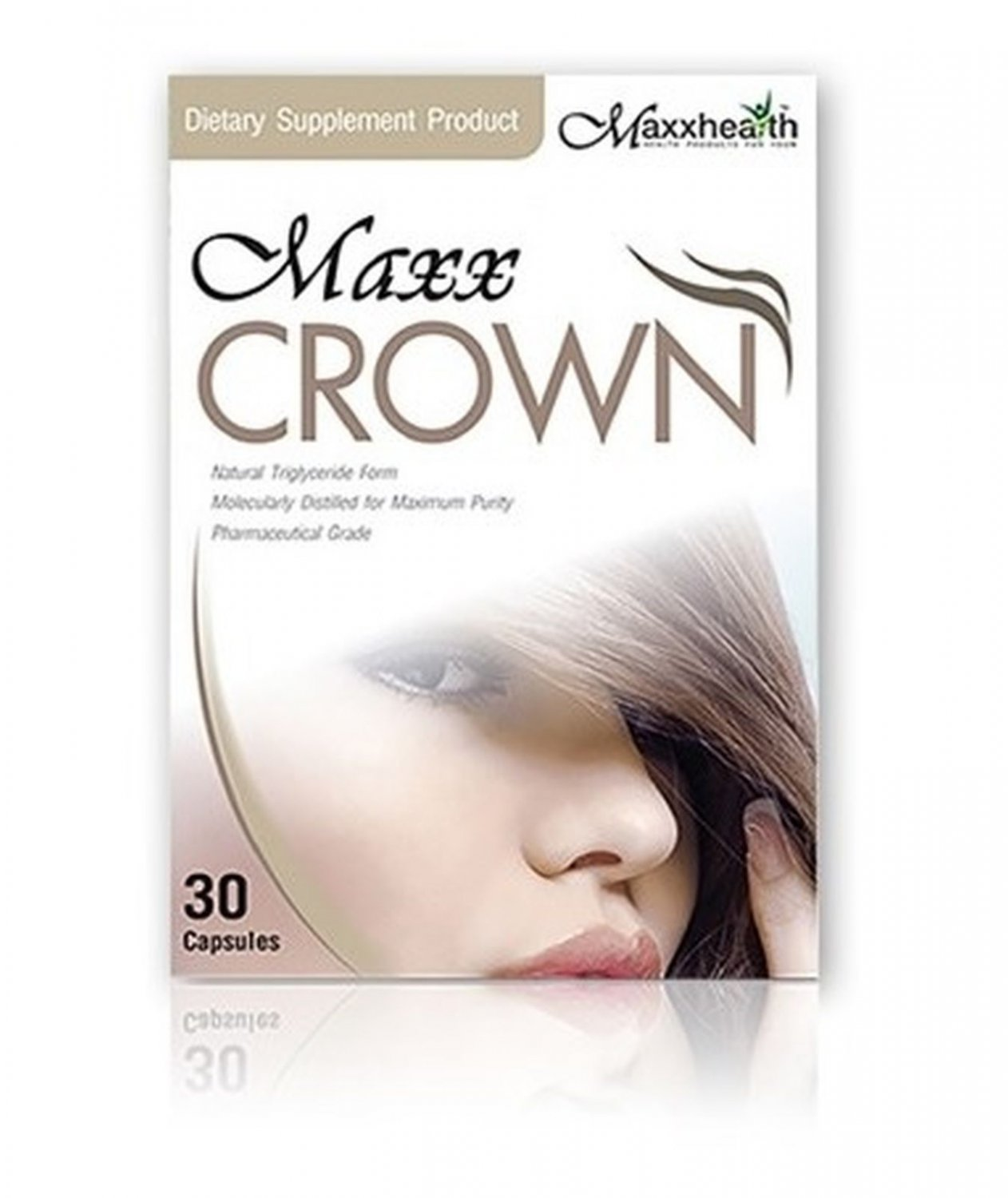 MAXX CROWN 30 Capsules Accelerates Hair Up. Give Strength to the Hair