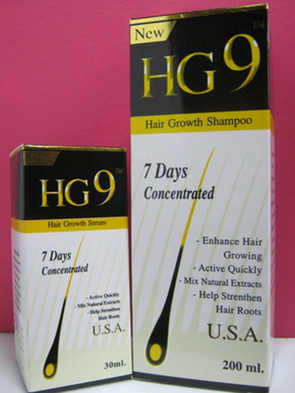 HG9 Hair Growth Serum 30 ml+Shampoo 220ml accelerates hair New recipes from USA.