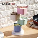 CHOICE FUN Fancy 4 layers Rotating Multi-chamber Kitchen Spice Jar Set