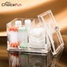 CHOICEFUN Bathroom Clear Transparent Acrylic Cosmetic Cotton Pad Storage Box