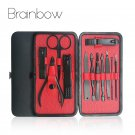 Brainbow 12in1 Nail Manicure Tools Set Kit for Face Nail Toe Nail File Cuticle