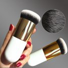 New Chubby Foundation Brush White and Brown Makeup Brush Fast Make up Brushes