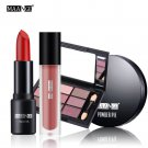 MAANGE 4PCS Lips Face Eyes Makeup Sets Liquid Lipstick Lip Golss Eye Shadow