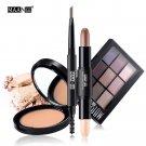 MAANGE 4PCS Matte Makeup Set Eyeshadow Highlighter Concealer Stick Bronzer Face