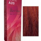 BERINA PERMANENT A20 COLOR NEW HAIR DYE CREAM RUBY RED COLOR PROFESSIONAL USE
