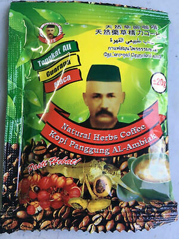 12 Sachets Ali Extract Sex Wellness Strongman Tongkat Ali Coffee New