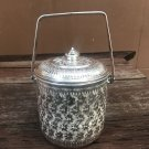 Vintage Collection Thai Traditional Design Aluminium Silver Cylindrical Pot Food 14 cm