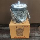 Vintage Collection Thai Traditional Design Aluminium Silver Cylindrical Pot 20 cm