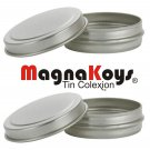 MagnaKoys® Small 1/2oz Slide Top Round Tin Containers for Crafts, Pocket Size - (4 Pack)