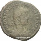 NG Roman Bronze coin of Aquileia Valentinian II Tyche Victoria SCARCE i1504