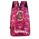 Riverdale Backpack Southside Serpants School Bag Pink Geometric Laptop Bag Gym Backpack