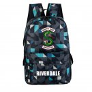 Riverdale Backpack Southside Serpants School Bag Gray Geometric Laptop Bag Gym Backpack