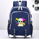 DJ Marshmello Oxford Canvas Backpacks for School Boys Girls iPad Backpack Blue