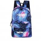 Detroit Become Human Backpack Galaxy Canvas School Bag iPad Backpack Blue