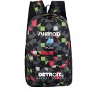 Kids Detroit Become Human Backpacks RK800 Connor School Backpack Gray Geometric