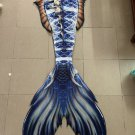 2019 Blue Mermaid Tails for Swimming with Monofin for Kids Woman Gift for Her