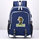 Fortnite Backpack USB School Bag Canvas iPad Backpack Blue Gift for Kids