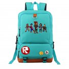 New Roblox Backpacks Teenage Students School Backpack Light Blue