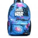 Linkin Park School Backpack Kids Teenage Canvas iMacbook iPad Bags Blue Galaxy