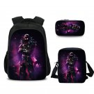 3 Sets Fortnite Students Backpack Should Bag Pencil Bag Purple Bags Purple Galaxy