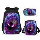 Fortnite Students School Backpacks Messenger Bag Pencil Case Ghost Purple