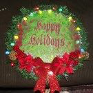 Happy Holidays Fluid Art Wreath No. 2