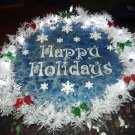 Happy Holidays Fluid Art Wreath No. 1