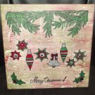 "Merry Christmas 12"" x 12"" Canvas"