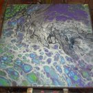 Syfy III - 14 x 14 - 20 color Fluid Painting