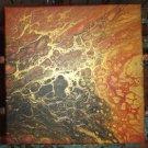 """Gold Accent Fluid Art - 12"""" x 12"""""""