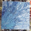 "Splattered Blues - Fluid Art - 12"" x 12"""