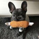 Chicken Bone Plush Squeaky Pet Toy Puppy Dog Interactive Squeaker Sound Play Chew Toys