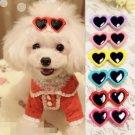 Pet Hair Heart Sunglasses Clips Fur Pet Puppy Dog Kitten Cat Cute Prop Head Accessory