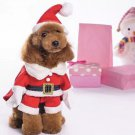 Santa Claus Hat Arms Pet XS-XL Outfit Costume Puppy Dog Christmas Holiday Xmas Clothes Coat Apparel