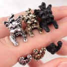 Retro Dog Fashion Ring Pet Antique Vintage Yorkie Animal Gift Puppy Wrap Adjustable