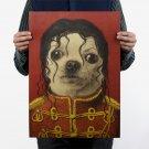 Decor Room Kraft Bar Pet Chihuahua Face Michael Jackson Retro Paper Nostalgic Antique Wall Art