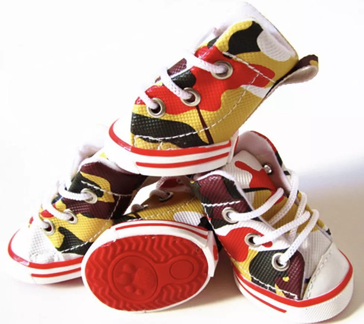 4 Pc Shoes Small Puppy Dog Cat Anti-slip Sneakers Boots Pet Sport Casual Accessories Supplies